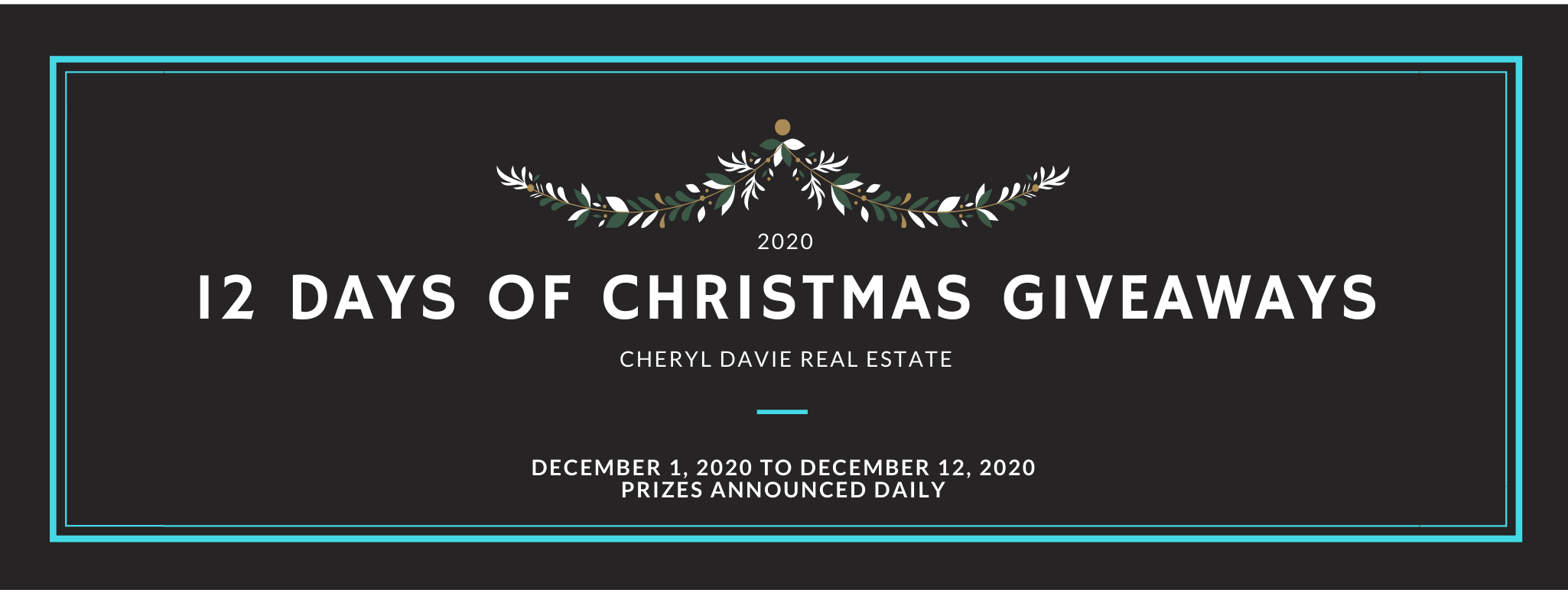 Cheryl's 12 Days of Christmas Giveaways